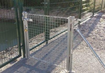 Puerta malla de varilla electro soldada galvanizada