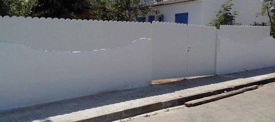Valla PVC lamas punto redondo