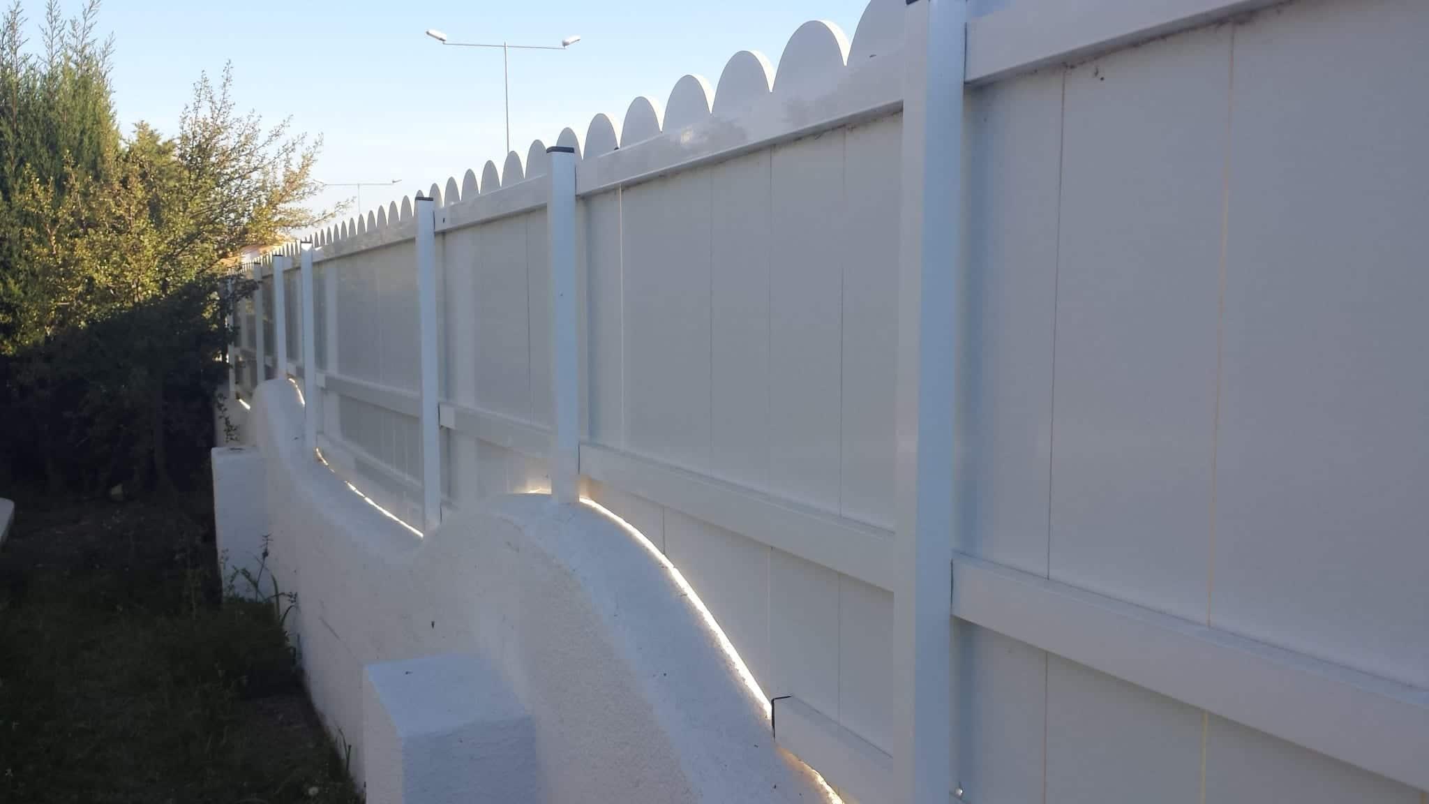 Vinuesa vallas cercados modelos valla verja lamas pvc for Vallas de aluminio para jardin