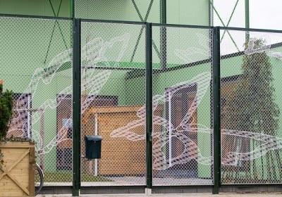 Lacefence puertas de malla de encaje