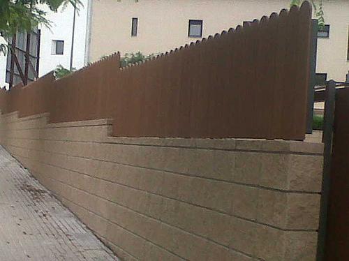 Vinuesa vallas cercados valla de ocultaci n residencial - Ocultacion vallas jardin ...