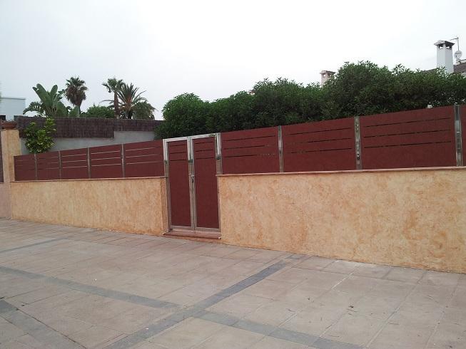Vinuesa vallas cercados valla ocultaci n compacto - Vallas de pvc para jardin ...