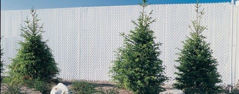 Vallado ocultacion con listones alados de polyester