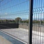Verja residencial malla plegada gris