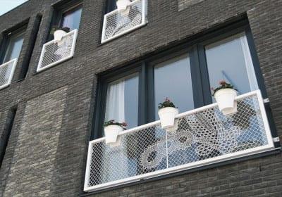 Lacefence balcón y ventana malla de encaje