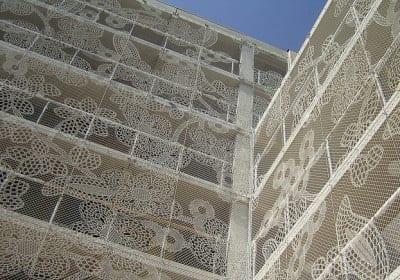 Fachadas malla de encaje