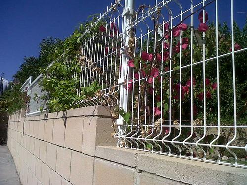 Verja de jardin malla plegada electrosoldad