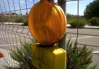 Lámpara destellos de señalización