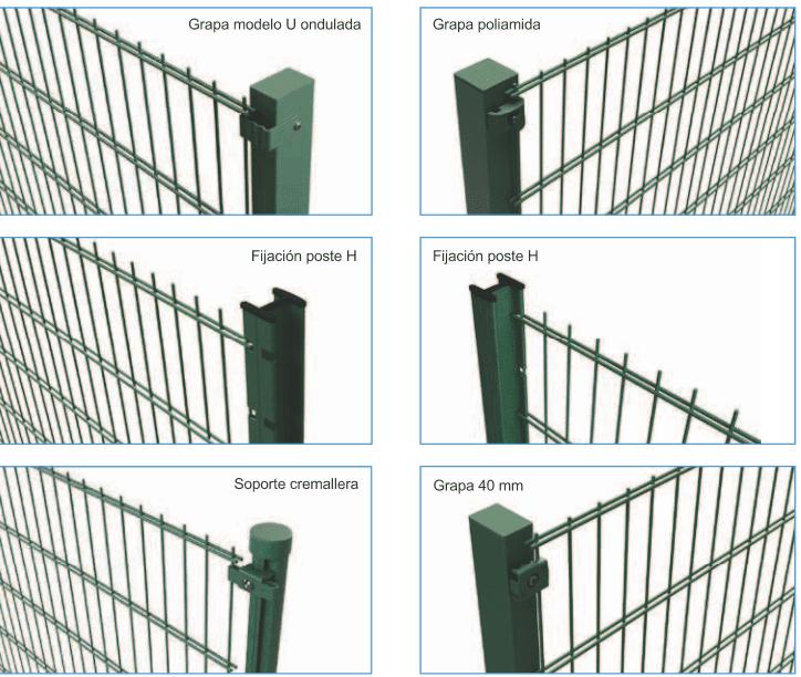Sistemas montaje verja dh doble hilo