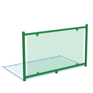 Valla con modulo para piscina cristal