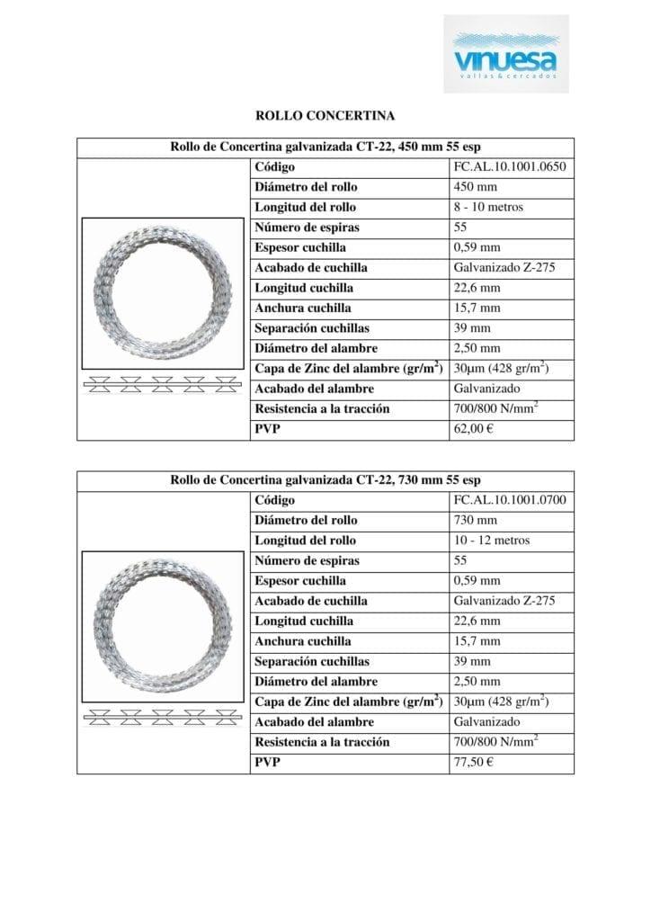 Ficha tecnica concertina