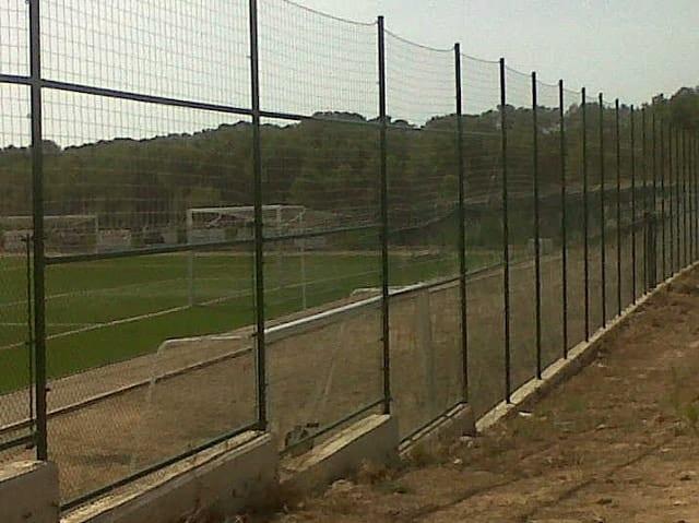 Valla cercado y red de nylon para fútbol