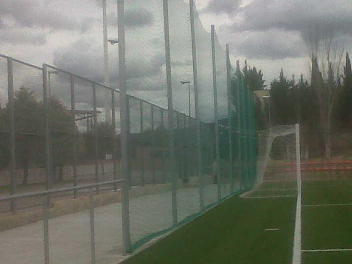 Red fondo pista campo futbol