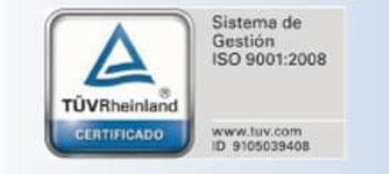 Certificado calidad de los materiales